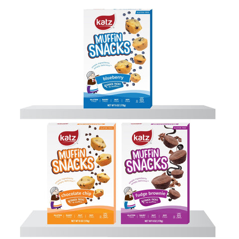 Katz Gluten Free Muffin Snacks Multi Pack