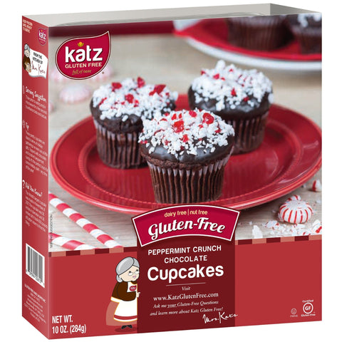 Katz Gluten Free Peppermint Crunch Chocolate Cupcakes
