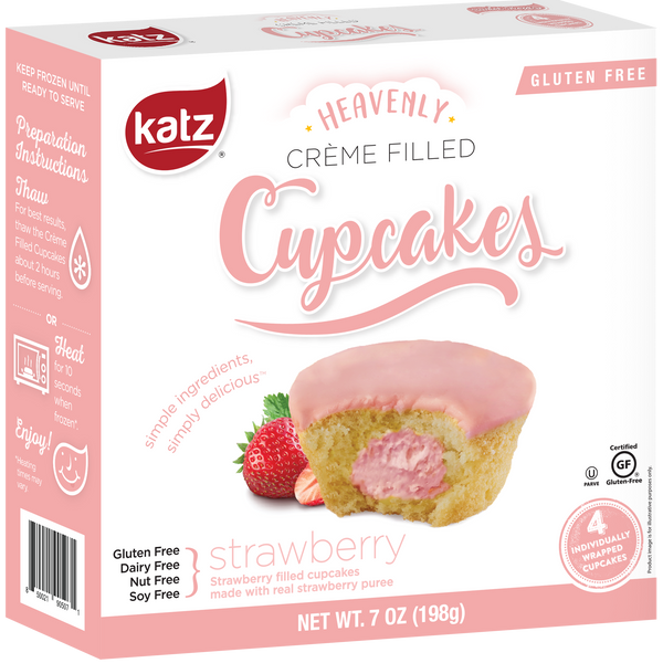Katz Gluten Free Strawberry Crème Filled Cupcakes