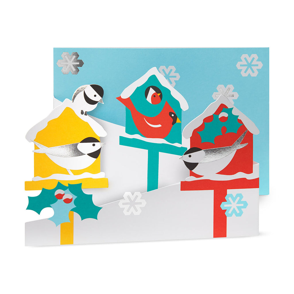 merry birdhouses - holiday card