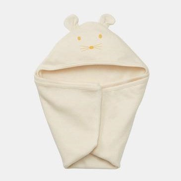 organic cotton baby hooded swaddle