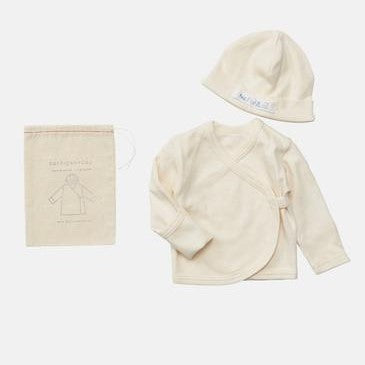 organic cotton baby cap and cardigan