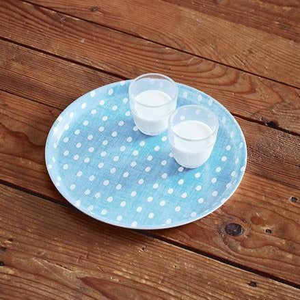 tray round egg blue