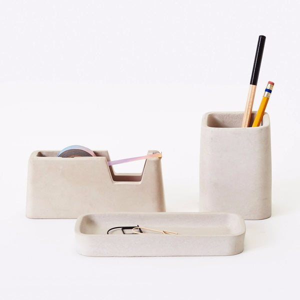 concrete desk set