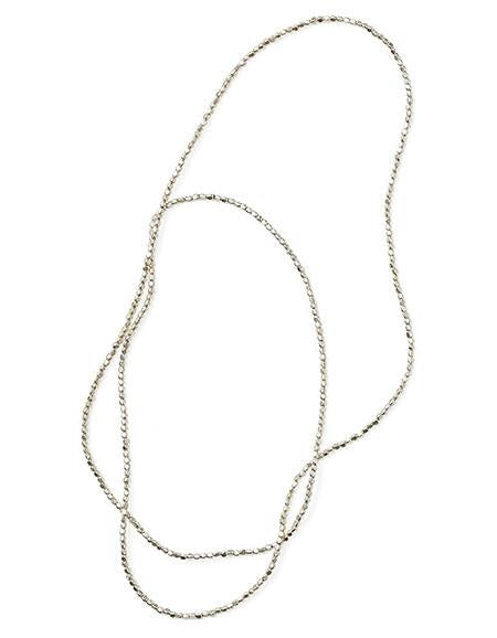 beads necklace - silver