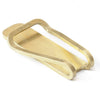 square money clip - brass
