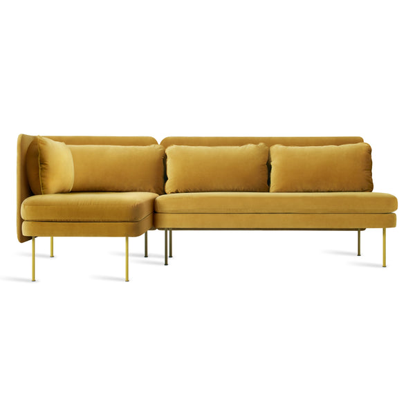 bloke velvet armless sofa with left arm chaise