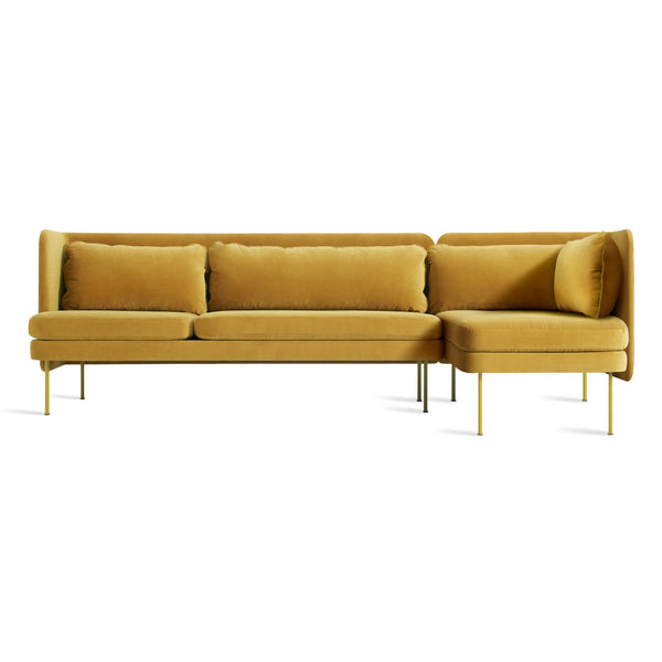 bloke velvet sofa with right arm chaise
