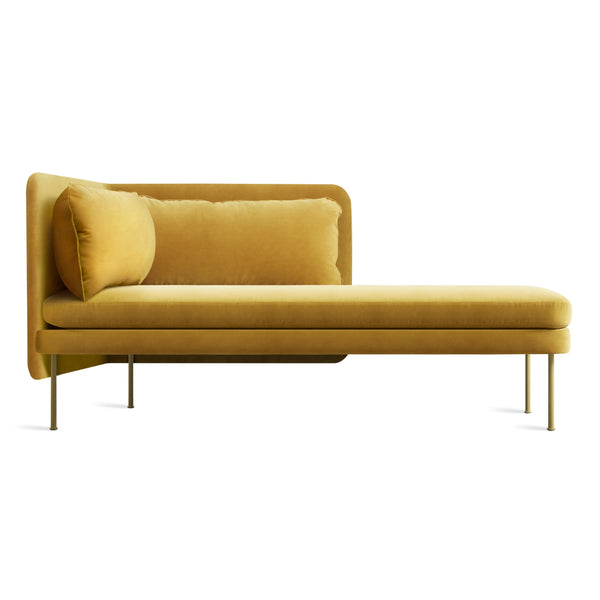 bloke right chaise - ochre velvet