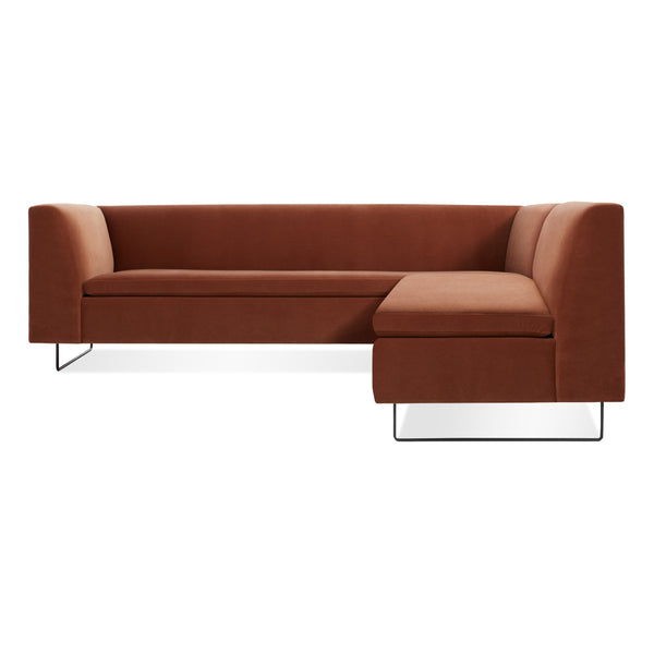 bonnie and clyde velvet sectional