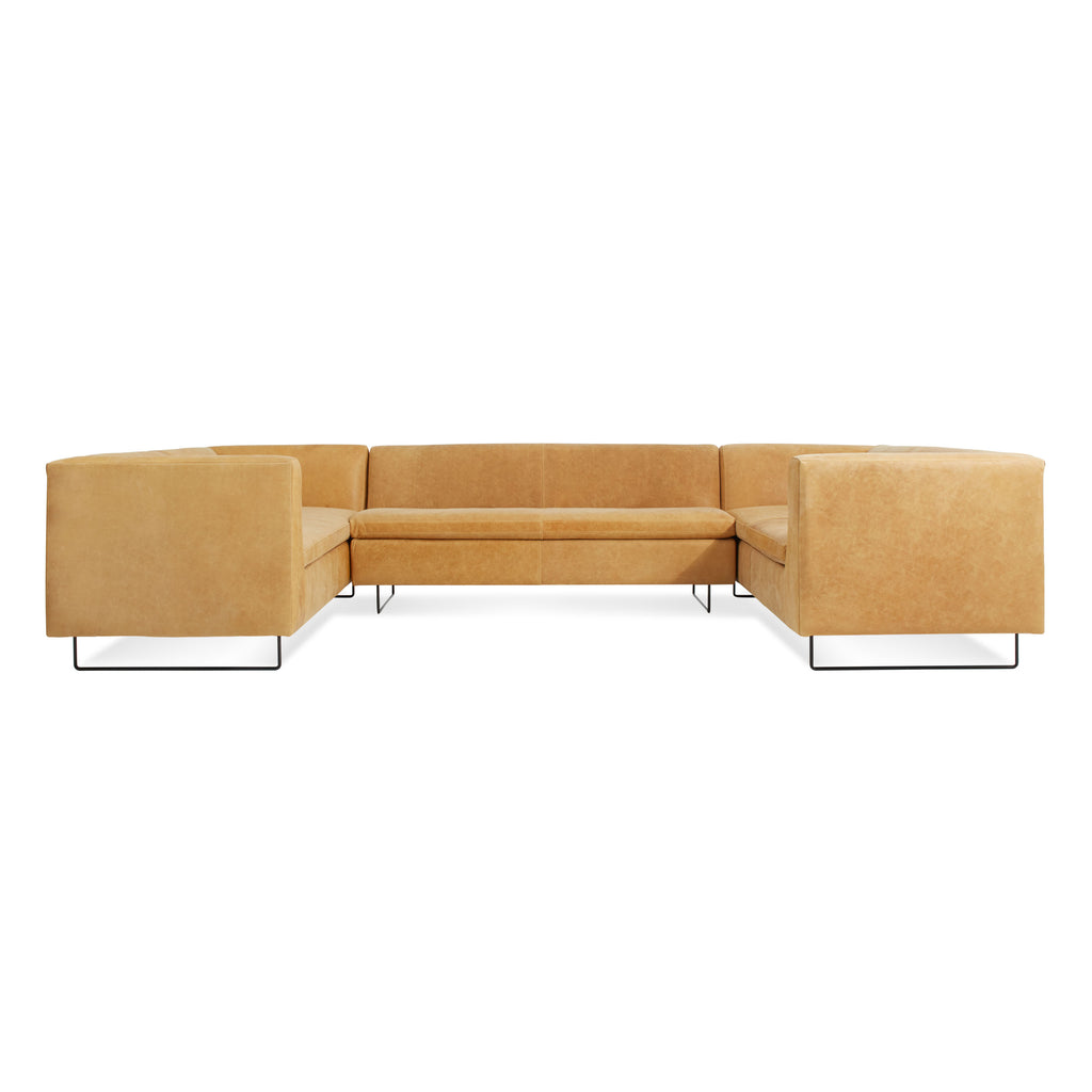 bonnie and clyde U shape leather sectional