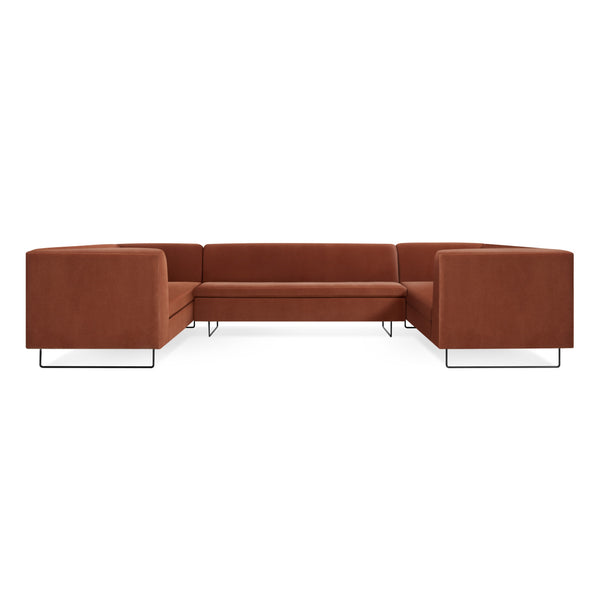 bonnie and clyde velvet  U shape sectional