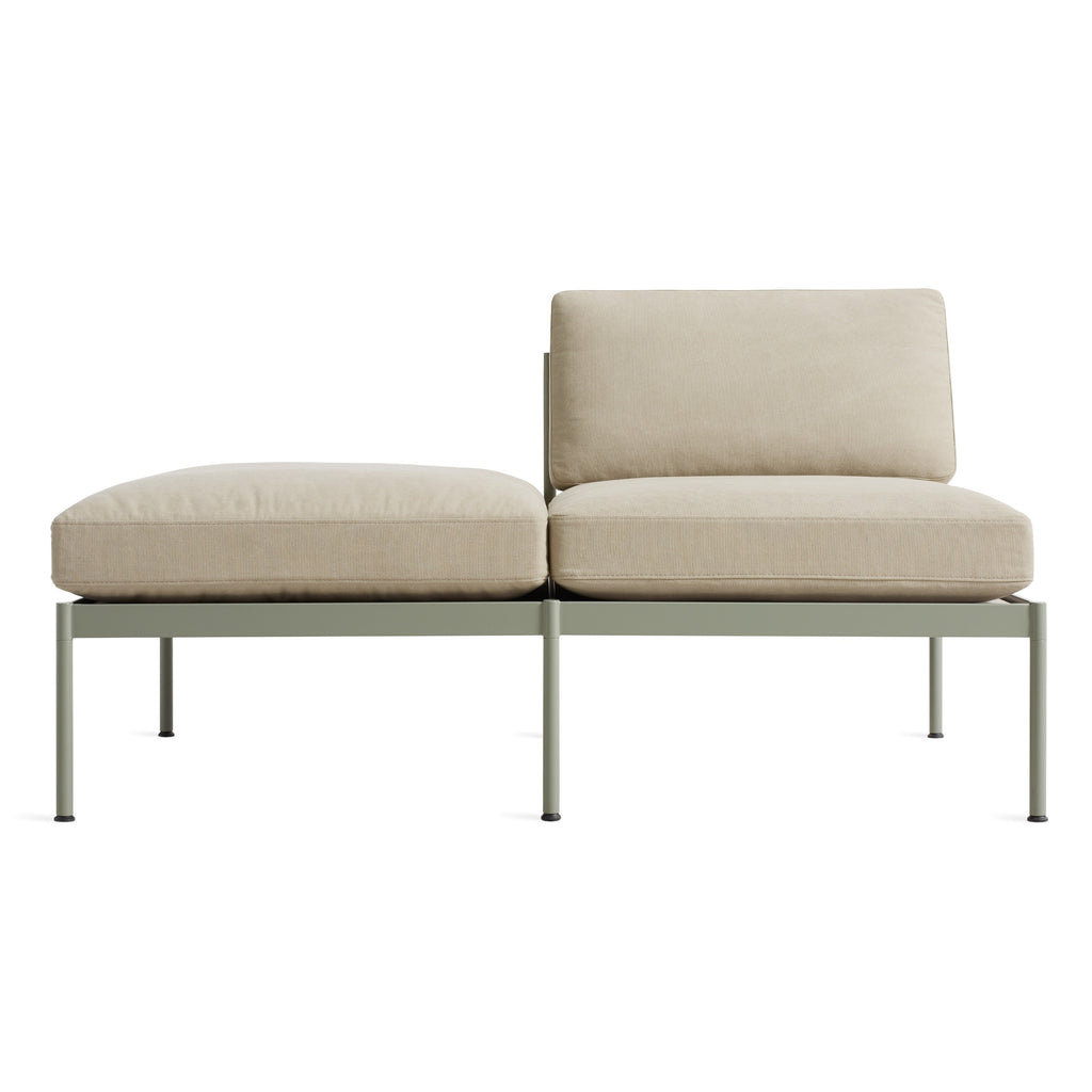 "chassis 59"" right/left small sofa with cushion"
