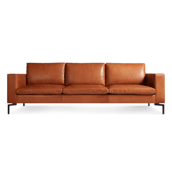 "standard 92"" leather condo sofa"