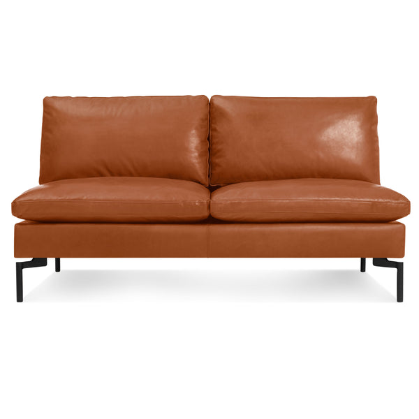 "new standard leather armless 60"" sofa"