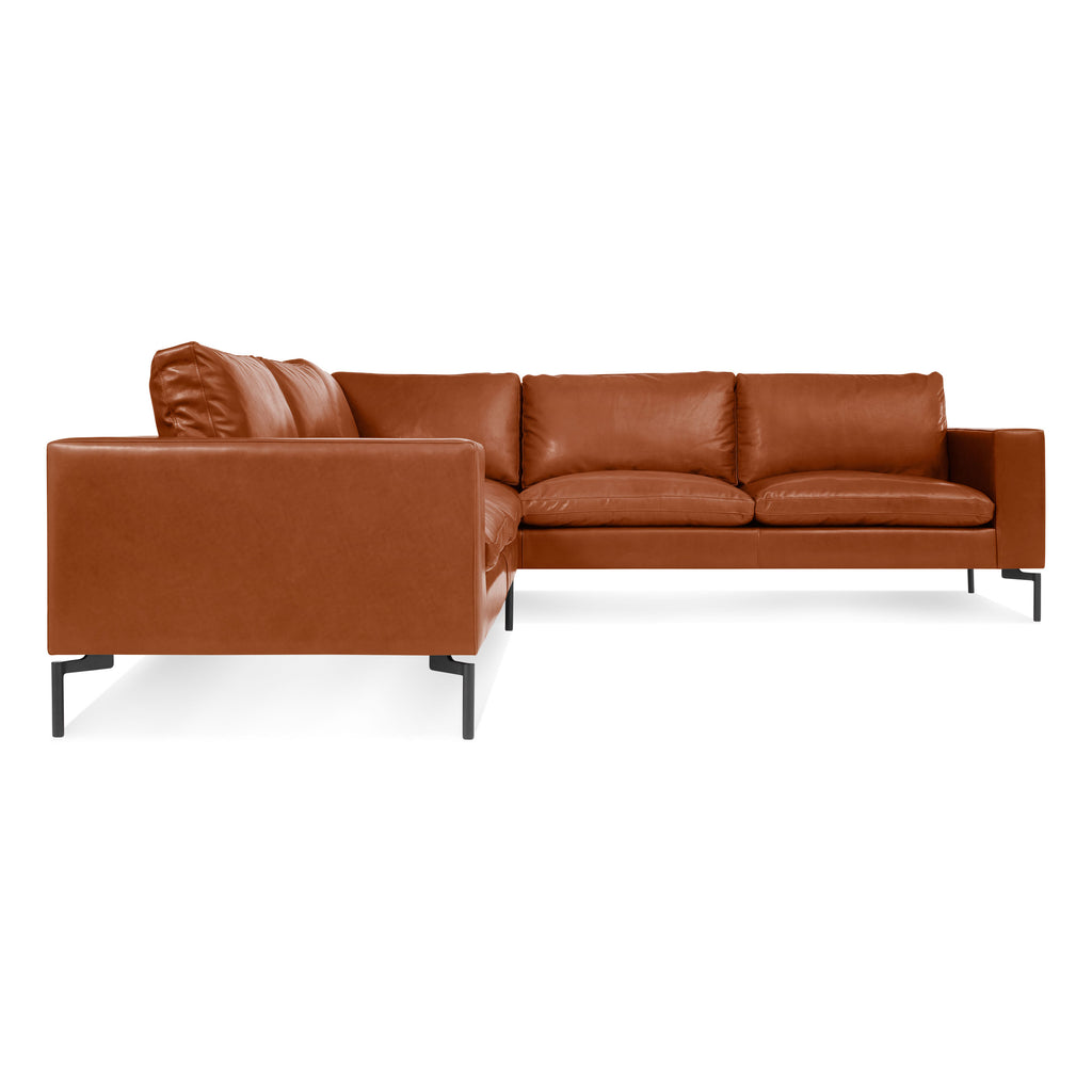standard leather small sectional