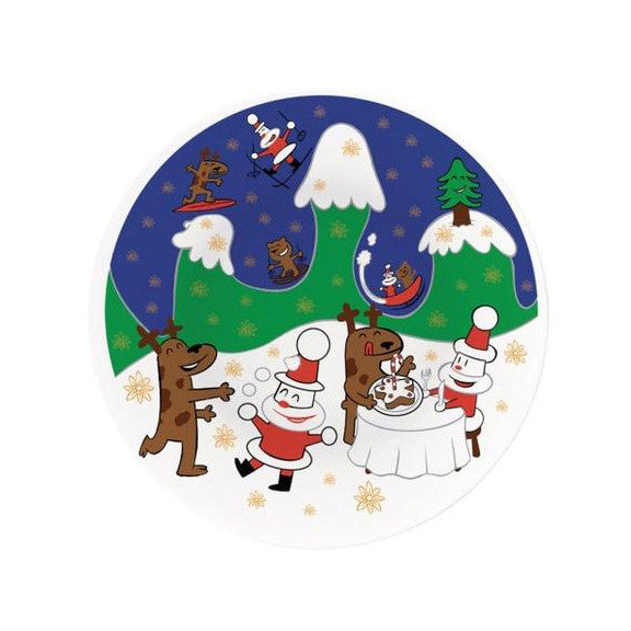 happy snowtime plate