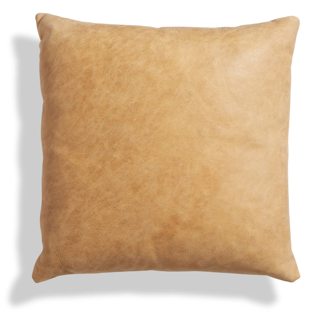 signal leather pillow