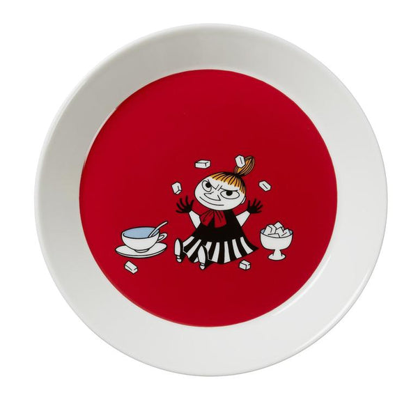 moomin my little red plate