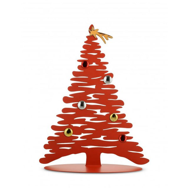 bark christmas tree - red