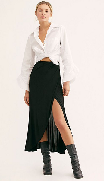 Smoke And Mirrors Midi Skirt