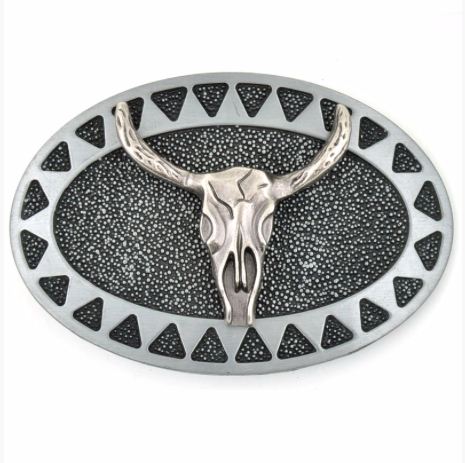 Borrego Springs Bull Skull Belt Buckle