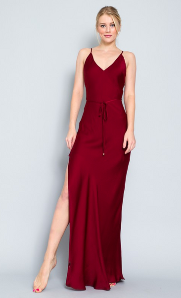Hot Mama Maxi Dress // Burgundy