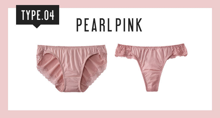 Pearl pink underwear for medium to dark skin tones