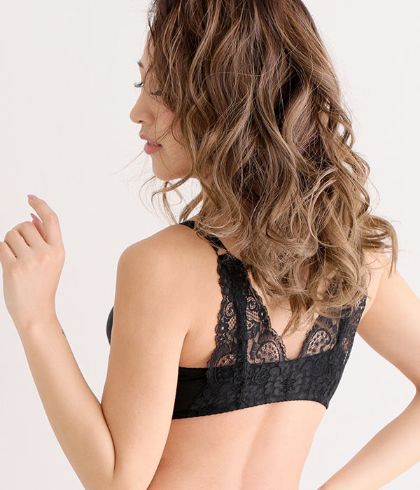BACK LACE WIRELESS MAXIMUM BOOST BRA CHOMORI BRA(R)