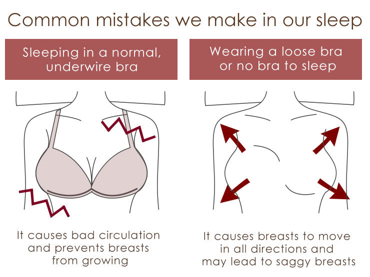 Common mistakes with bras we make in our sleep