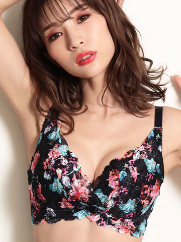 Flower Lace Side Slimming Lacy Push-Up Bra (FGH Cup)