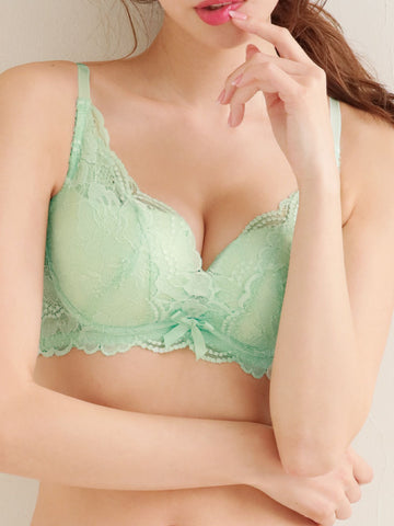 Side Slimming Lace Push-Up Bra