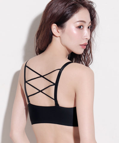 Sexy Back Lace Up Wireless Maximum Boost Bra CHOMORI BRA(R)