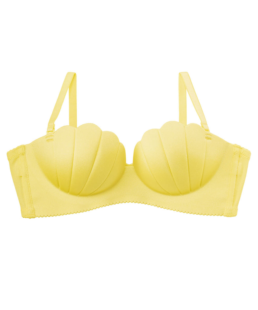 Wireless Strapless Maximum Boost Bra CHOMORI BRA(R) Demi Bra in Shellwork