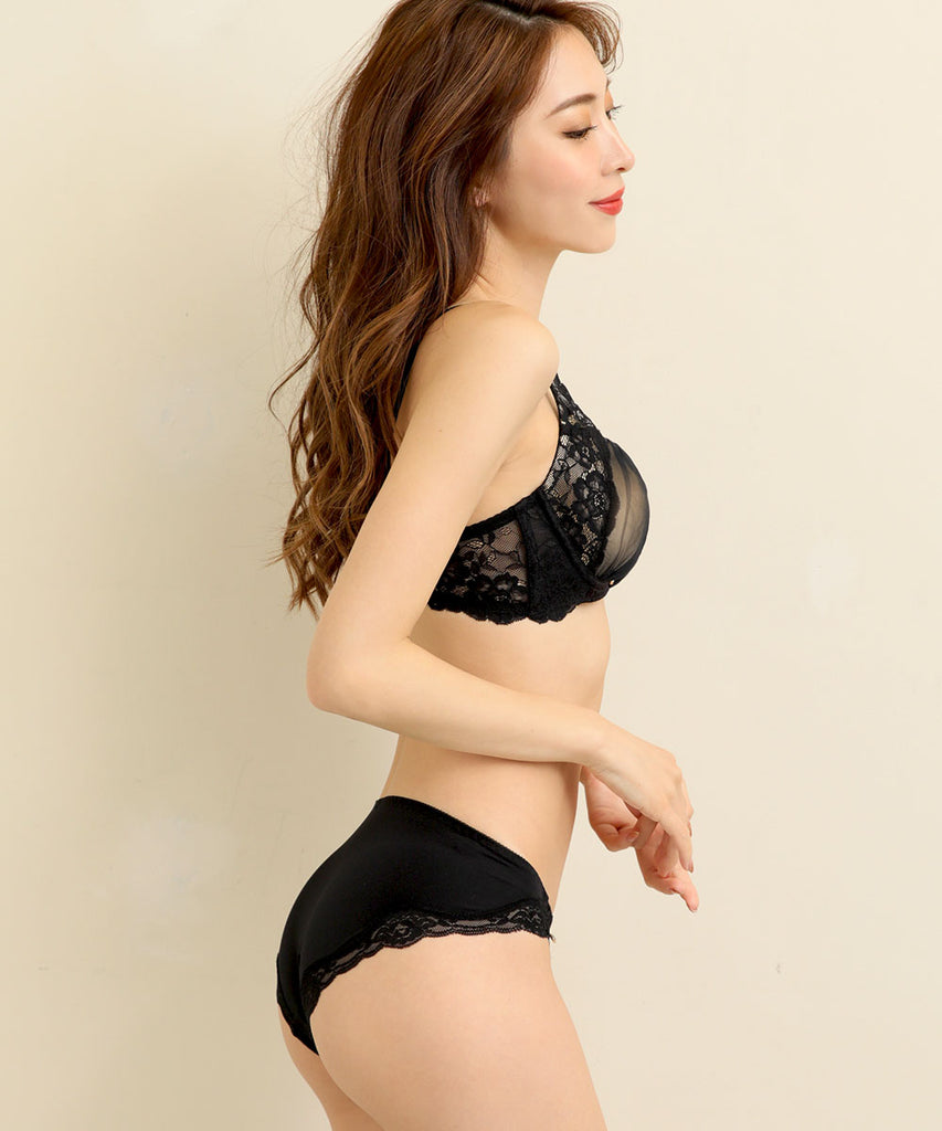 """Aria Lace"" Bra & Panty with Side Support"