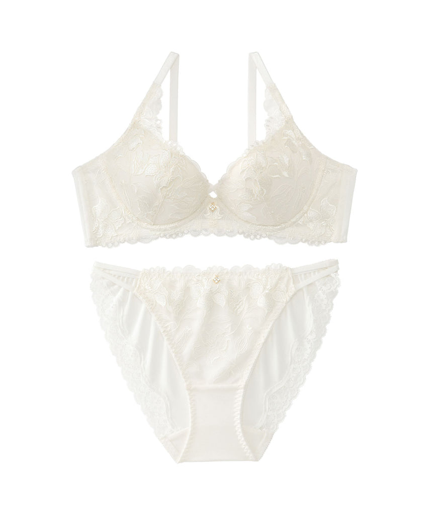 """Lily Lace"" Bra & Panty with Side Support"