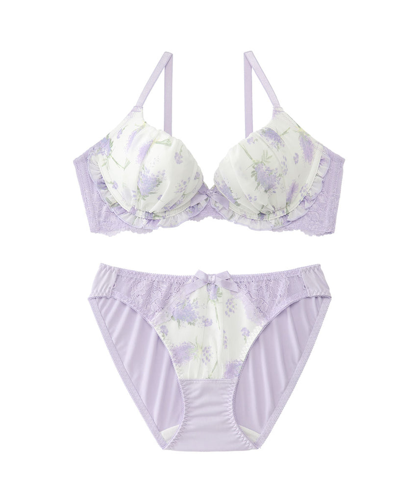 Mimosa flower Lacy Bra & Panty with Side Support