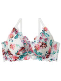Flower Lace Side Slimming Lacy Push-Up Bra