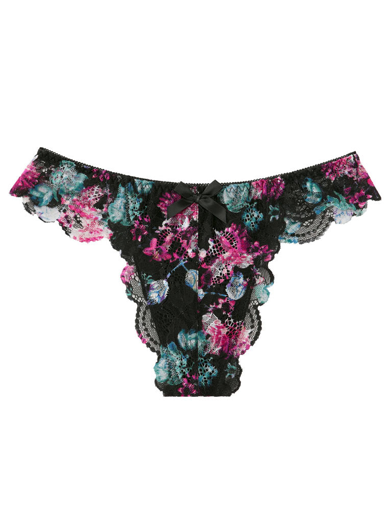 Flower Lace Thong Panty