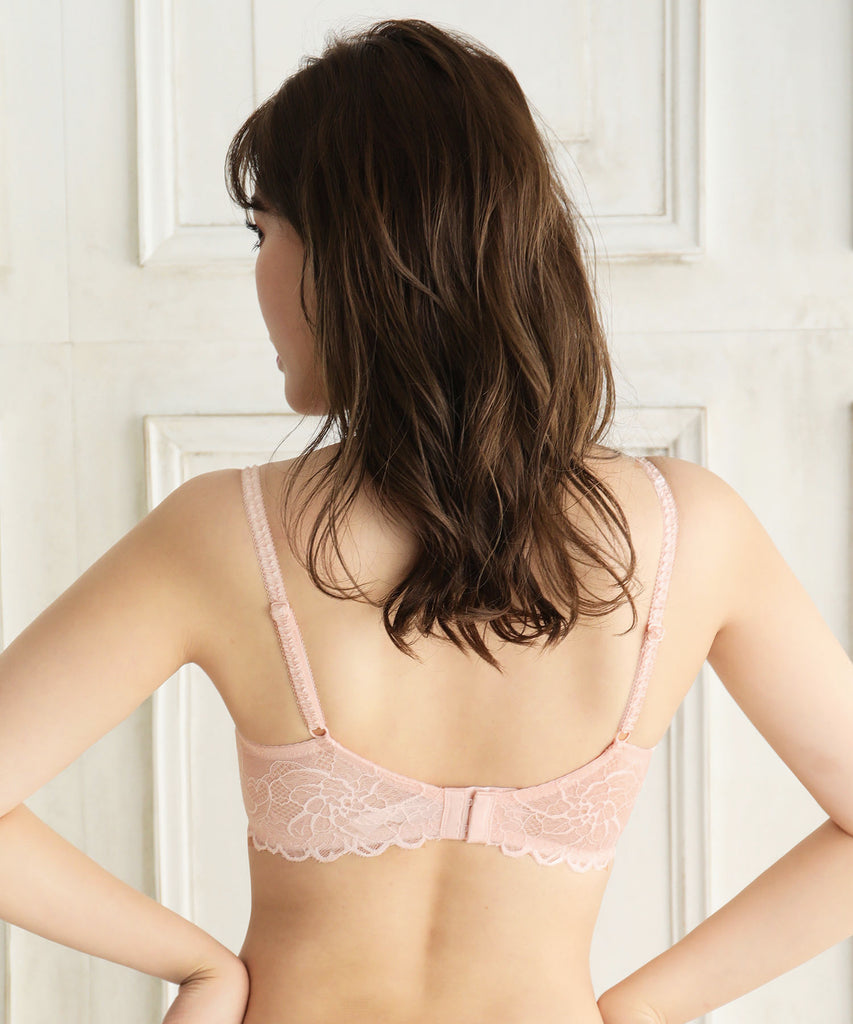 Floral Motif Bra with Side Support