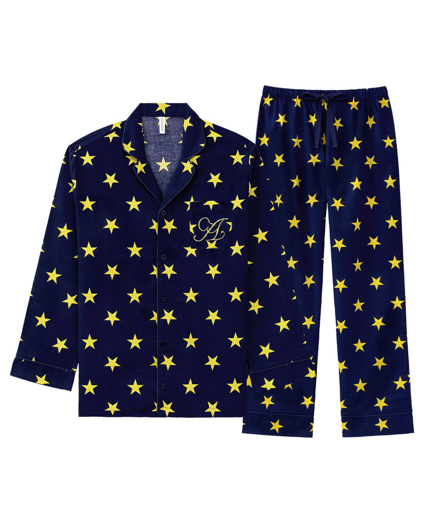 Shirt Pajamas Top-Bottom Set