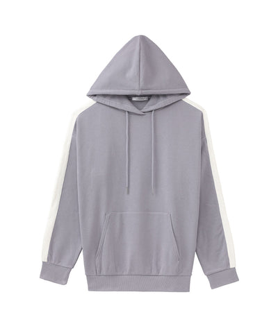 Sweat Hoodie with Lines