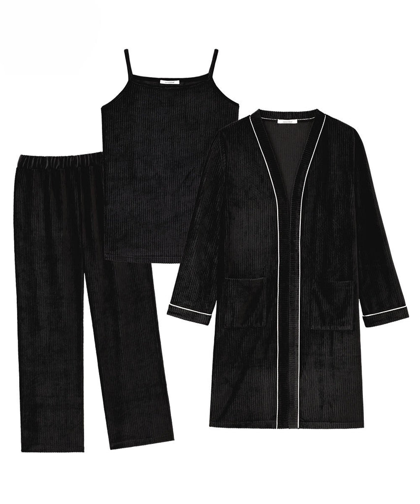 Rib Velor 3-piece roomwear set