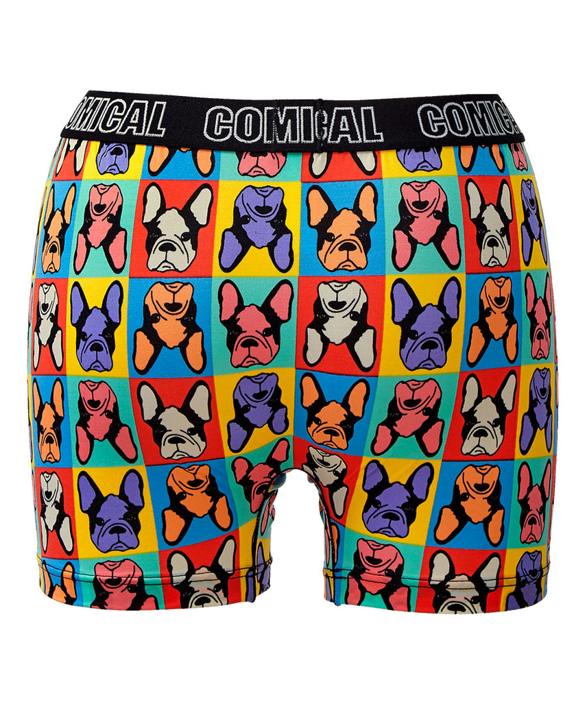 Bulldog Face Print Boxer (Men's)