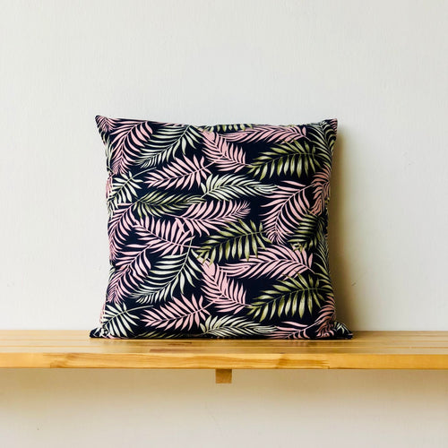 Cushion Palms Blue 60cmx60cm