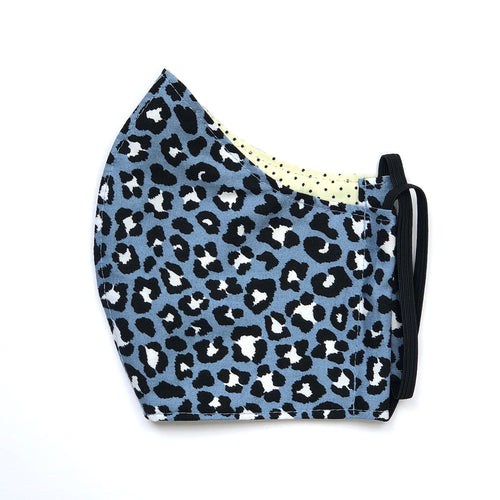 Face Mask - Leo denim / Dots