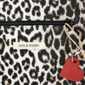 Tote bag - Dark grey / Leopard snow