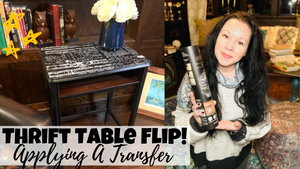 Thrift Table Flip: Painting & Adding A Transfer