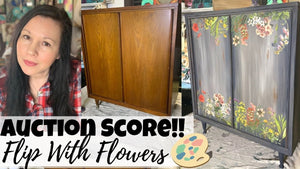 Weathered Look + Fabulous Flowers! Here's how!
