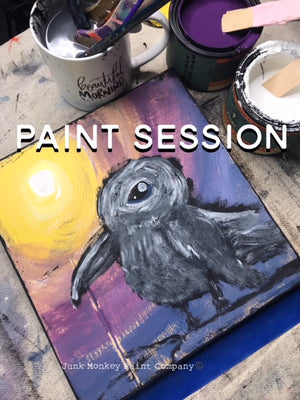 Let's Paint A Cute Crow In The Moonlight